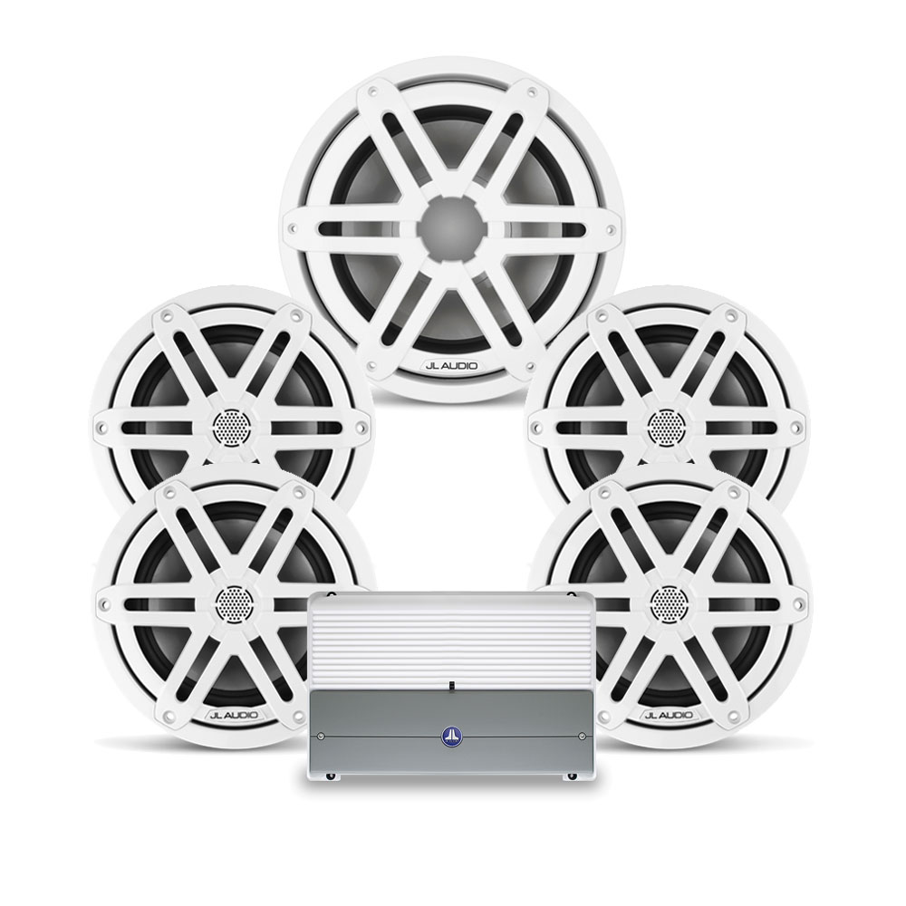 """JL Audio M3 6.5"""" 4 Speakers + 1 Subwoofer Stereo Package"""