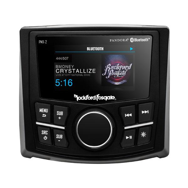 Rockford Fosgate PMX-2 Bluetooth Digital Media Receiver & 2.7 Inch Display